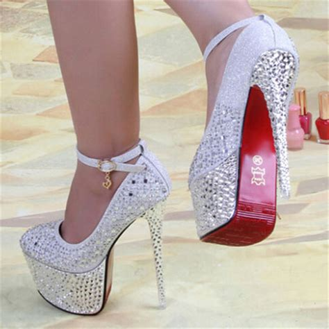 Wedding High Heels by 2014 New Arrive S Pumps 16cm Bottom High Heels