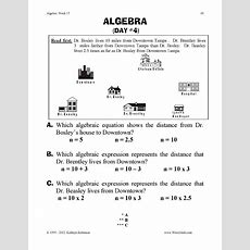 Algebra Practice Worksheets  3rd, 4th, 5th Grade