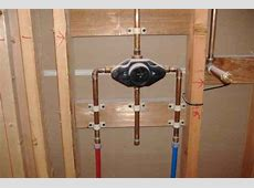 Supporting shower mixing valve when using PEX