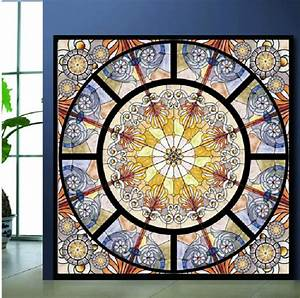 cwpeu028 semi transparent personalized wall stickers With stained glass wall decal ideas for home decoration
