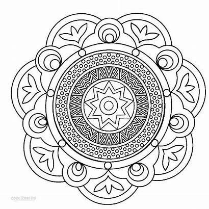 Mandala Coloring Mandalas Printable Colouring Sheets Cool2bkids