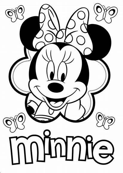 Coloring Minnie Mouse Disney Websincloud Activiteiten Mickey