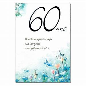 Faire Part Anniversaire 60 Ans : texte carte anniversaire 60 ans et retraite coleteremelly blog ~ Melissatoandfro.com Idées de Décoration