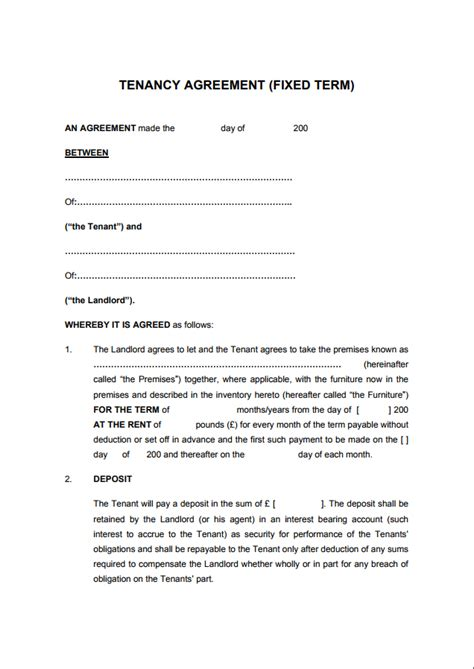 tenancy agreement gtld world congress