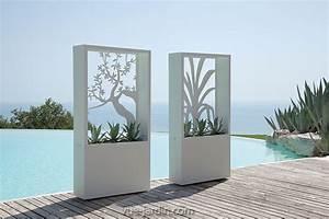 Brise Vue Décoratif : brise vue design avec silhouette d 39 arbre en acier blanc ou ~ Preciouscoupons.com Idées de Décoration