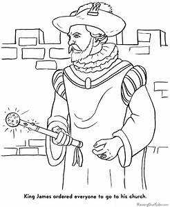 thanksgiving story coloring pages - pilgrim coloring pages 001
