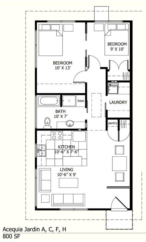 square house floor plans 800 sq ft acequia jardin