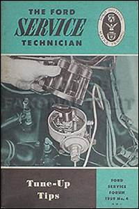 1959 Ford Thunderbird Wiring Diagram Manual Reprint
