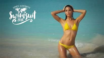 Lily Aldridge Illustrated Swimsuit Sports Wallpapers Bikini