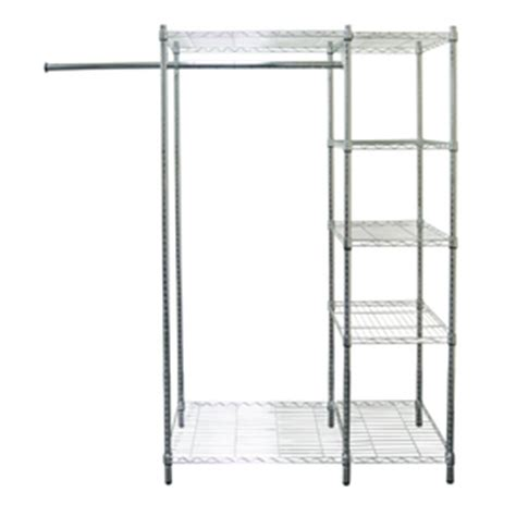 lowes garment rack shop style selections chrome plated steel garment rack at