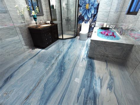 3d Flooring Wall papers Home Decor Marble Floor Tile
