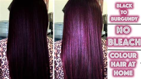 black  burgundy hair colour  bleach youtube