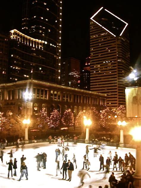 millennium park christmas lights chicago millennium park mccormick tribune ice rink ice