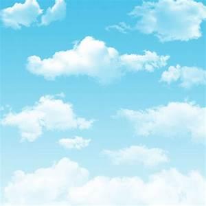 White Cloud Blue Sky Photography Backdrops Newborn