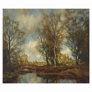 Arnold Marc Gorter QuotLate Autumnquot Impressionist Oil