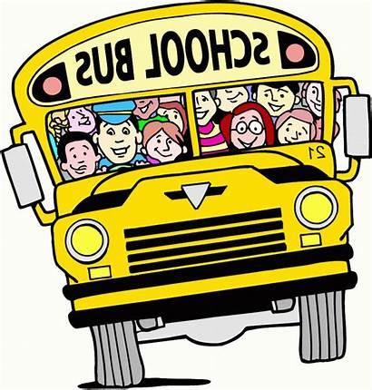 Bus Cartoon Clipart Clip Cliparts Ride Buses