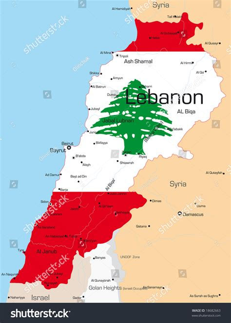 Lebanon Map Country