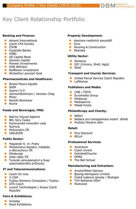 companybusiness profile templates  word