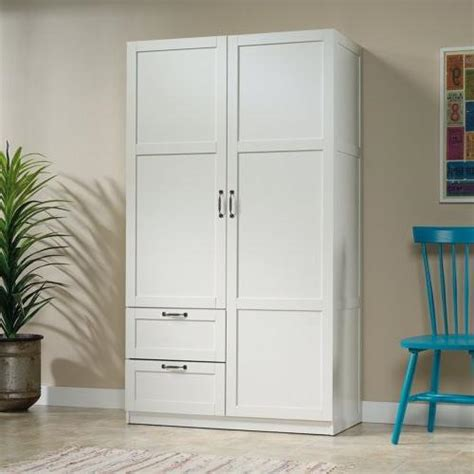 White Storage Closet Wardrobe by White Finish Armoire Wooden Wardrobe Storage Cabinet Closet