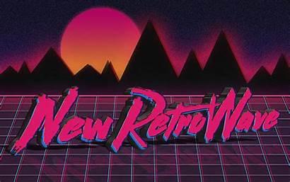 Retro Wave Neon 1980s Digital Synthwave Typography