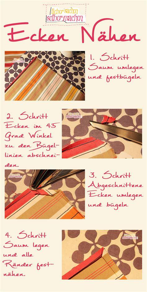 Tischdecke Selber Machen by Tischdecke Tischsets Ecken Richtig N 228 Hen Selber Machen