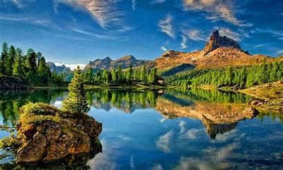 Desktop Resolution Wallpapers Mountain Lake Sky Reflection