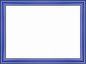Indigo Elegant 3 Separate Bands Rectangular Powerpoint Border 3D BordersUV ociates