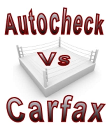 autocheck  carfax vehicle history report side  side