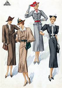 30s Fashion Quartet – Blank Card | Green Tiger Press ...
