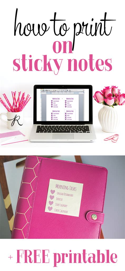 print  sticky notes  heart planners