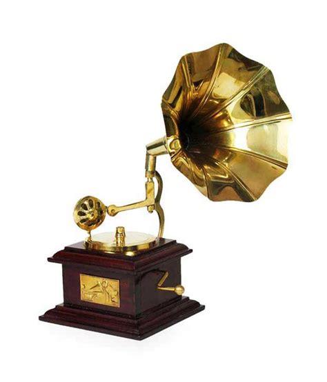 design hut home decor brass showpiece gramophone decorative gift item buy design hut home decor