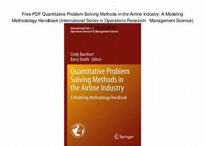 Free PDF Quantitative Problem Solving Methods in the ...