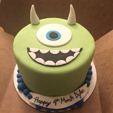 monsters  mike wazowski cake baby dylan month cake