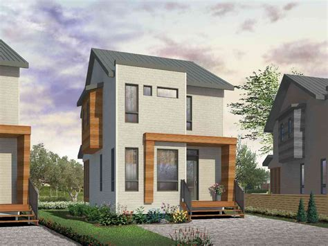 bedroom contemporary  narrow lot dr architectural designs house plans