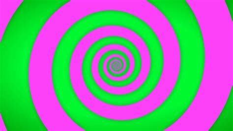 Hypnotic Green And Pink Spiral Background Motion