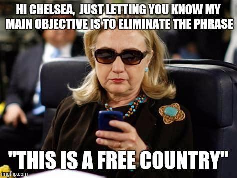 Chelsea Clinton Memes - hillary clinton cellphone meme imgflip