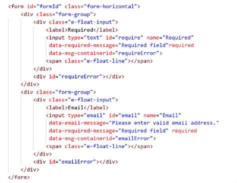 javascript html5 form validation input validation