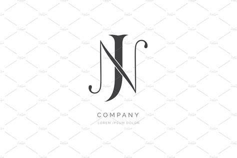 jn  nj monogram logo design logo templates creative market