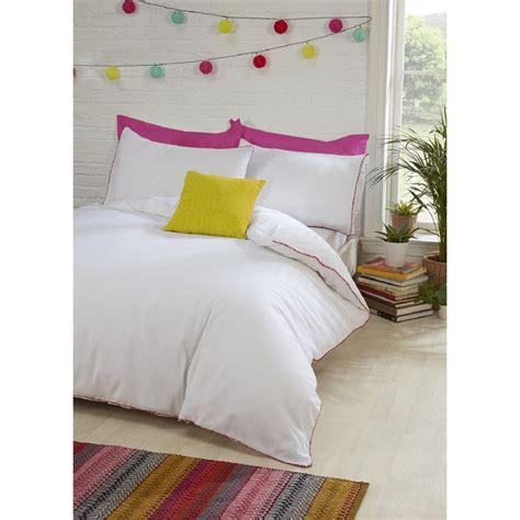 pom pom duvet pom pom trim duvet cover and pillowcase set