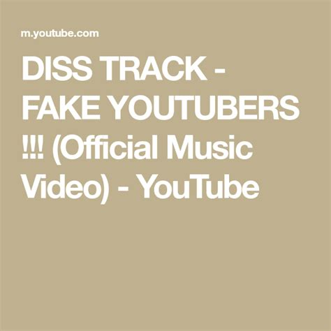 DISS TRACK - FAKE YOUTUBERS !!! (Official Music Video ...