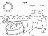 Coloring Sand Castle Sandcastle Drawing Sheets Printable Template Castles Cool Boys Craft Nursery Getdrawings sketch template