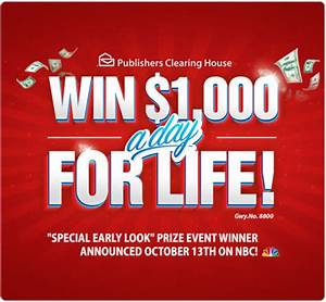 Win $1,000 A Day For Life From PCH Sweepstakes! | PCH Blog