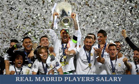 all real madrid footballers deals per week salary 2017 18