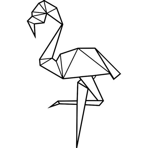 cuisine a petit prix sticker flamant en origami