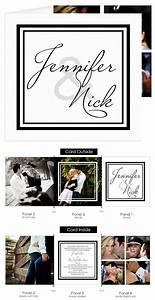 best 25 photo wedding invitations ideas on pinterest With black and white tri fold wedding invitations