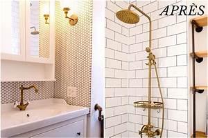 Salle De Bain Avant Après : avant apr s une salle de bain avec cachet vintage ~ Preciouscoupons.com Idées de Décoration