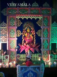 Gowri and Ganesh Pooja - Thermocol Decoration - Vysyamala