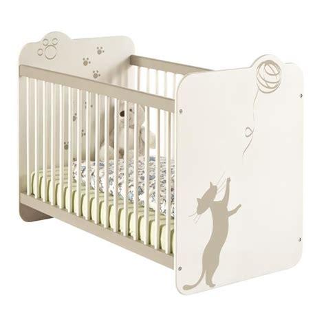 chambre bébé alibaby lit bébé 60x120 cm blanc et taupe achat vente