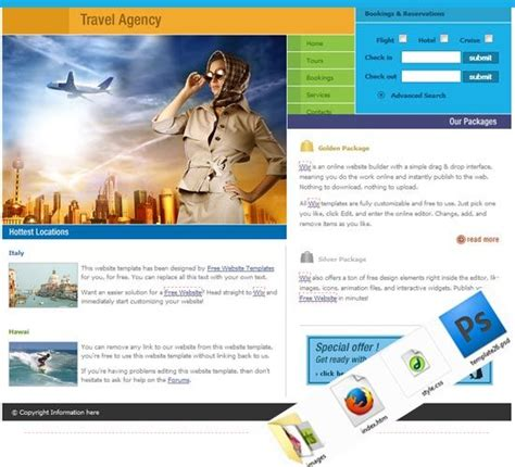 Tourism Website Design Free Templates by Travel And Tourism Website Templates Free Free