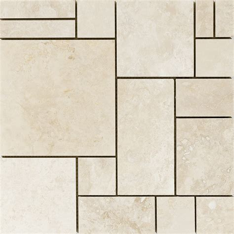 tuscany beige honed 12x12 basket weave travertine mosaics